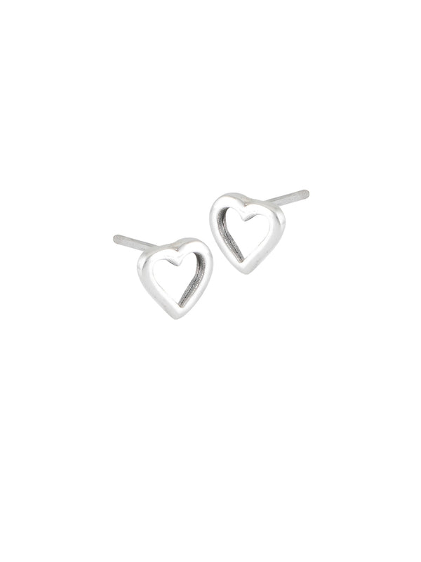 Heart Outline Posts | Sterling Silver Stud Earrings | Light Years Jewelry
