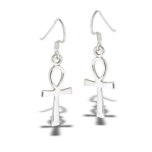 Ankh Earrings, $12 | Sterling Silver Dangles | Light Years Jewelry