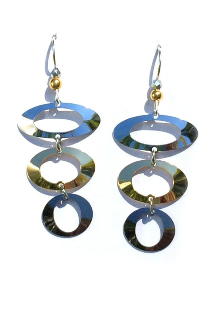 Three Ovals Earrings by Adajio, $21 | Sterling Silver | Light Years