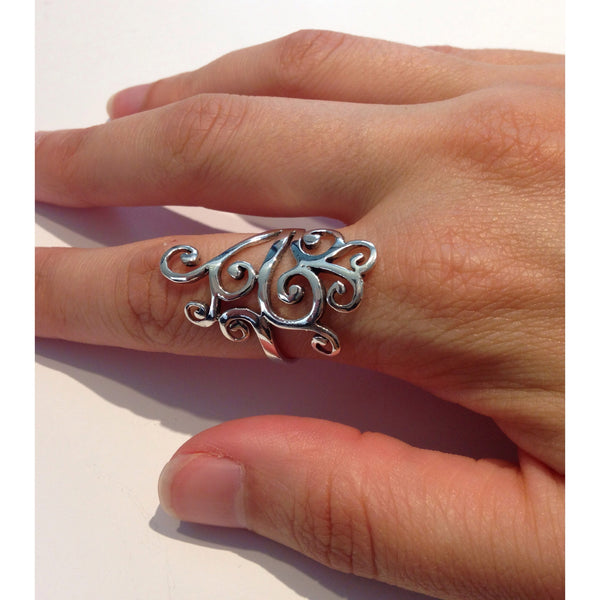 Swirling Vines Ring, $24 | Sterling Silver | Light Years Jewelry