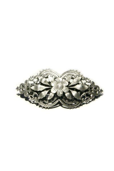 Floral Filigree Barrette, $21 | Silver Hair Accessory | Light Years