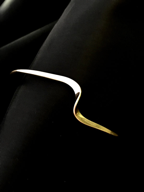 Single Twist Cuff | 14k Gold Filled Bracelet | Light Years Jewelry