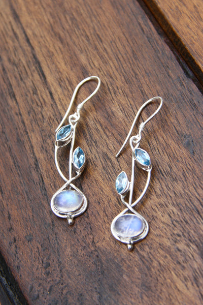 Gemstone Vine Dangles, $38 | Sterling Silver | Light Years Jewelry