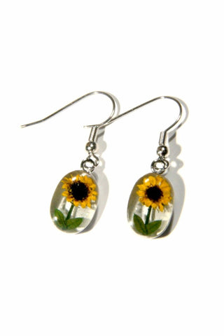 Bonsai Sunflower Dangles, $18 | USA Handmade | Light Years Jewelry
