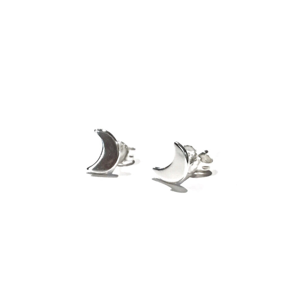 Crescent Moon Posts, $9 | Gold or Silver Stud Earrings | Light Years