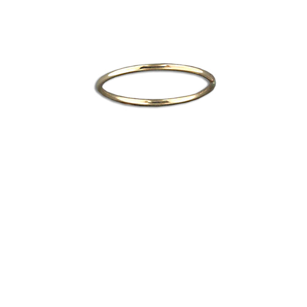 Thin Rounded Gold Fill Ring Band | Size 3 4 5 6 7 8 9 10 | Light Years