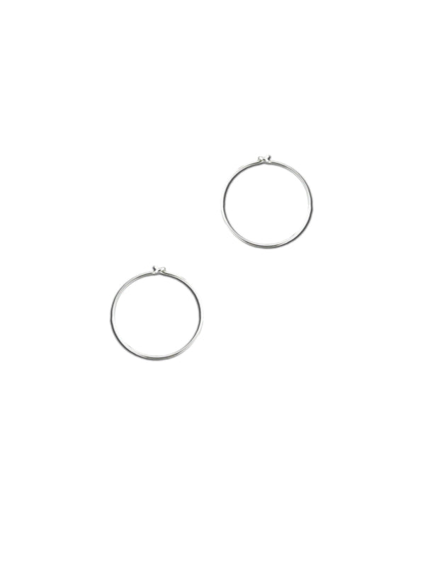 Thin Wire Hoops | Sterling Silver Gold Filled Earrings | Light Years
