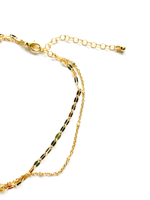 Double Chain Anklet | Gold Plated Link Bracelet | Light Years Jewelry