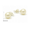 6mm Freshwater Pearl Posts, $7.50 | Sterling Silver Stud Earrings | Light Years Jewelry