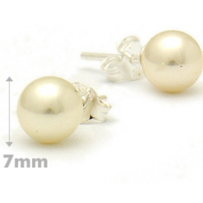 7mm Freshwater Pearl Posts, $8 | Sterling Silver Stud Earrings | Light Years Jewelry