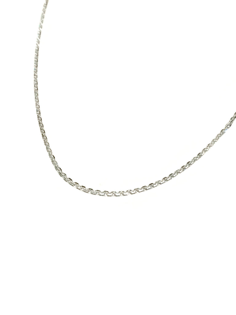 "Diamond Cut Cable Chain | Sterling Silver 16"" 18"" 925 