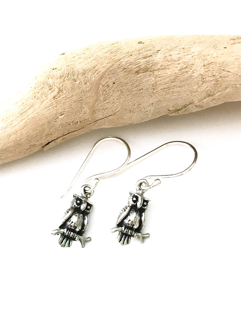 Little Owl Dangles | Sterling Silver Earrings Bali | Light Years Jewelry