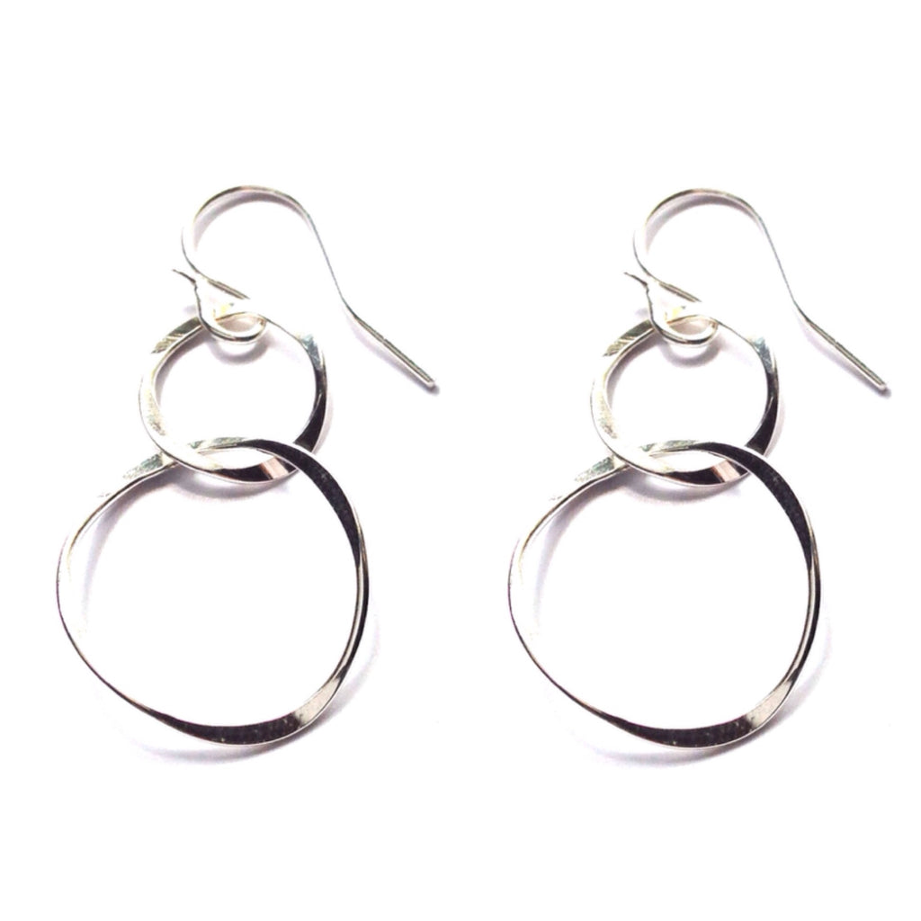 Link Circle Drops $20 | Sterling Silver Earrings | Light Years Jewelry