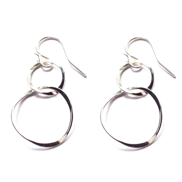 Double Circle Earrings | Gold Fill Sterling Silver Dangles | Light Years