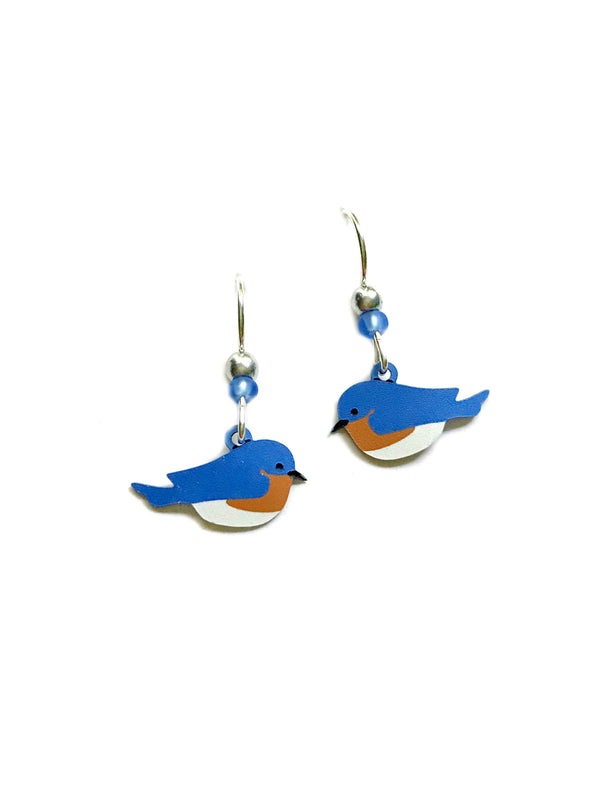 Eastern Bluebird Dangles Sienna Sky | Sterling Silver USA | Light Years