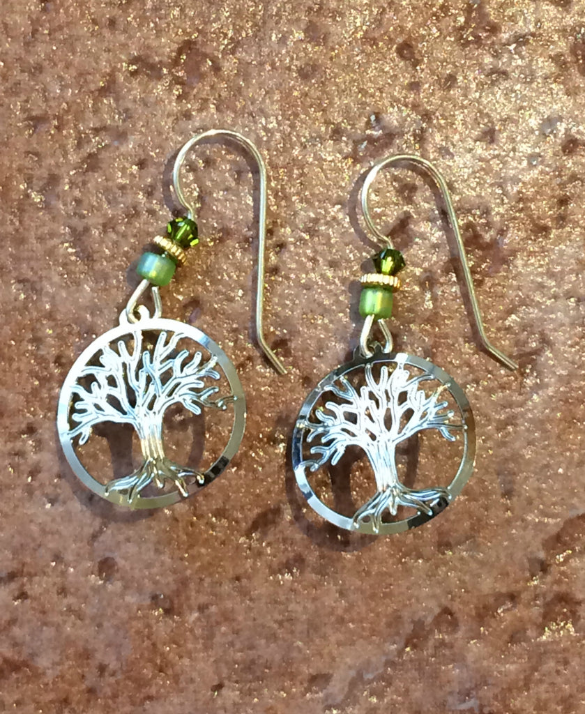 Sterling Silver Tree of Life Earring by Sienna Sky