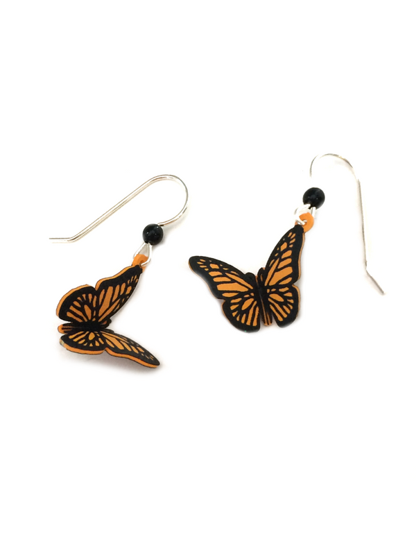 Monarch Butterfly Dangles | Sterling Silver USA | Light Years Jewelry