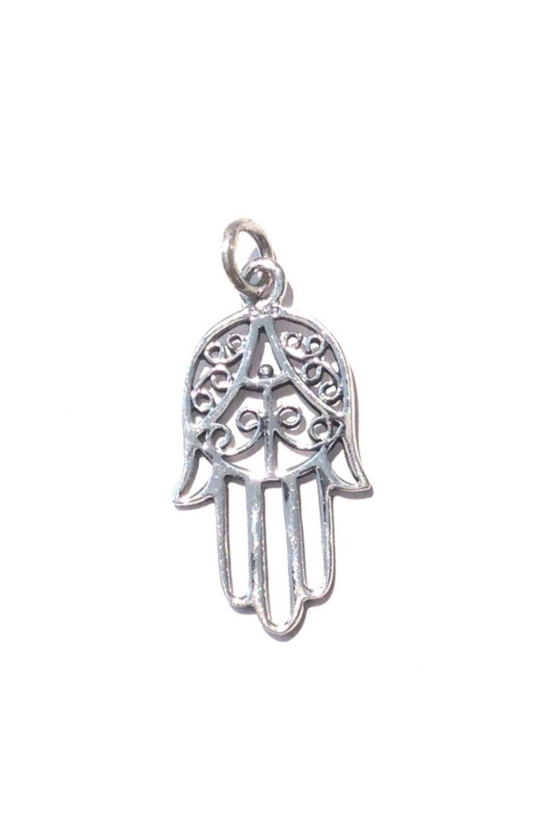 Hamsa Filigree Pendant, $11 | Sterling Silver | Light Years Jewelry