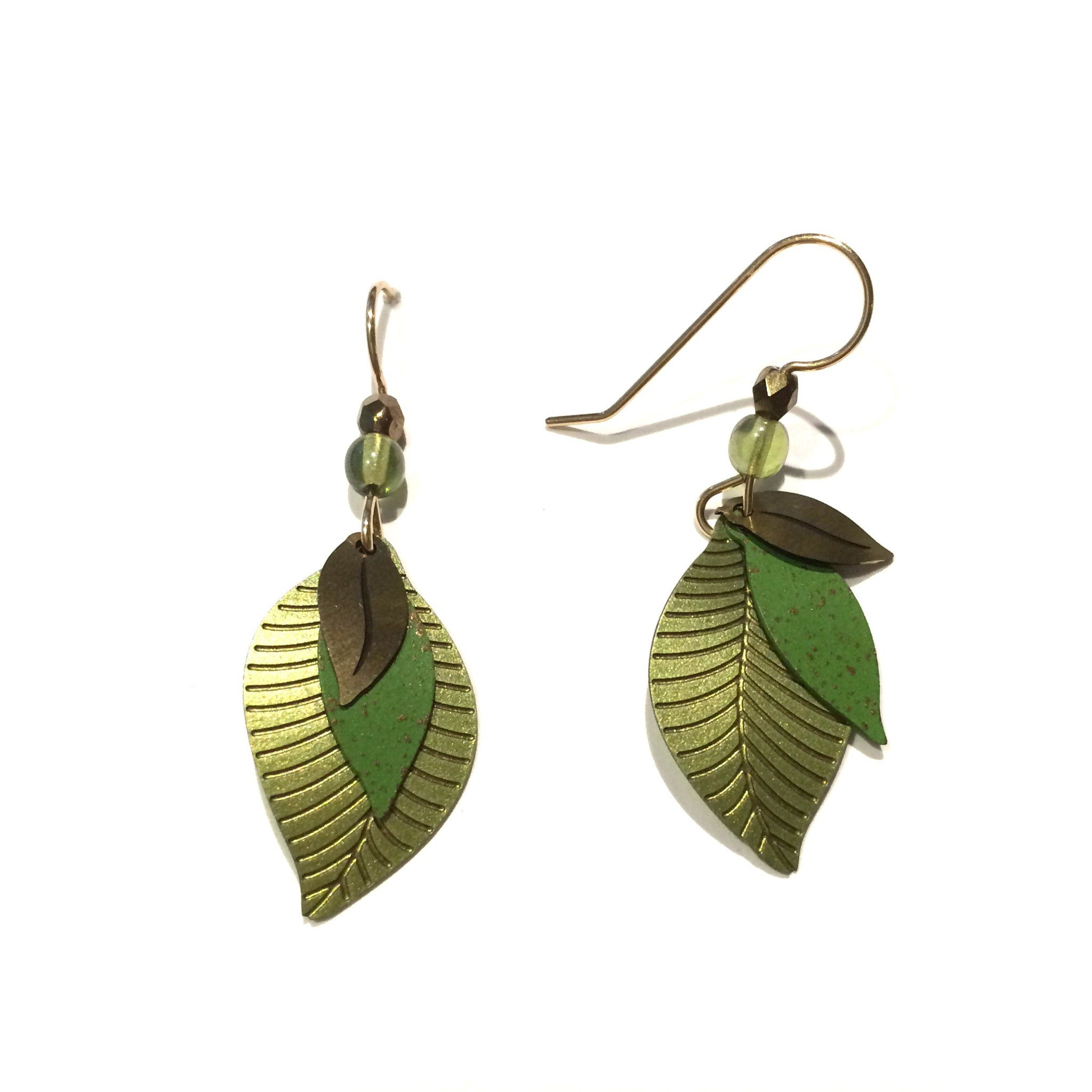 Green Leaf Earrings by Adajio, $20 | Gold-Filled | Light Years Jewelry