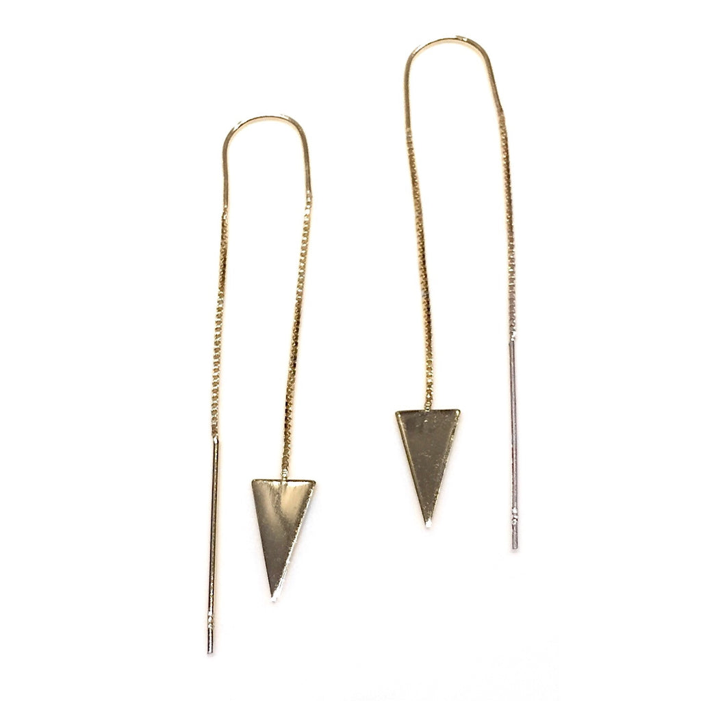 Triangle Ear Threads, $19 | Gold Vermeil | Light Years Jewelry