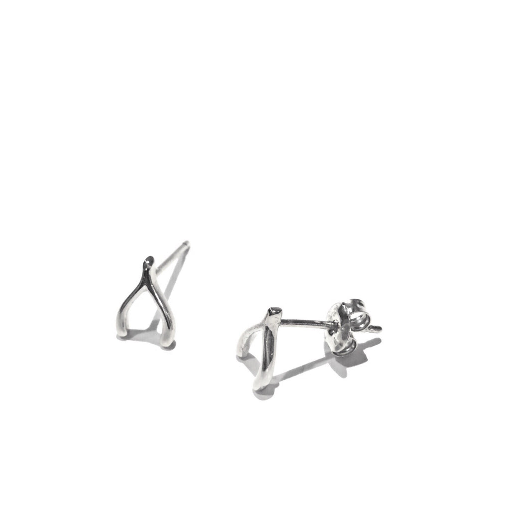 Sterling Silver Wishbone Posts, $10 | Stud Earrings | Light Years Jewelry