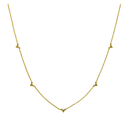 Floating Triangles Necklace, $12 | Gold Plated | Light Years Jewelry