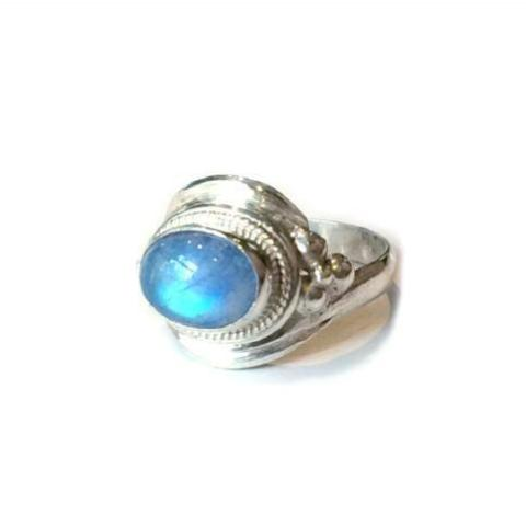 Decorative Moonstone Ring, $24 | Sterling Silver | Light Years Jewelry