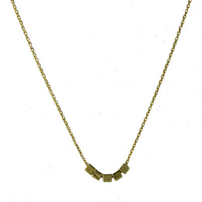 5 Tiny Cubes Necklace, $11 | Gold Plated | Light Years Jewelry