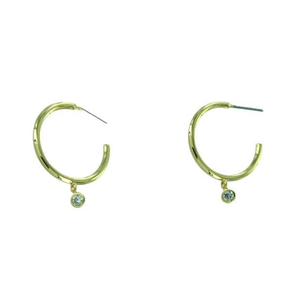 Hoop & Dangling CZ Earrings | Gold Silver Plated | Light Years Jewelry