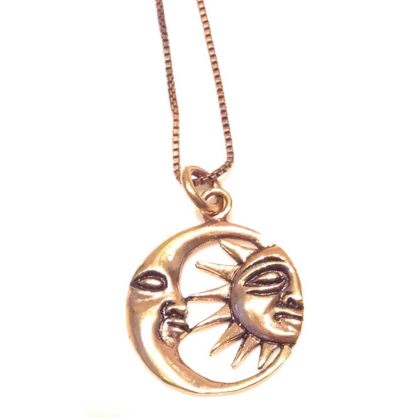 Copper Sun and Moon Necklace, $18 | Light Years Jewelry