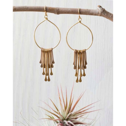 Rain Goddess Earrings by Amano, $28 | Gold Plated | Light Years Jewelry