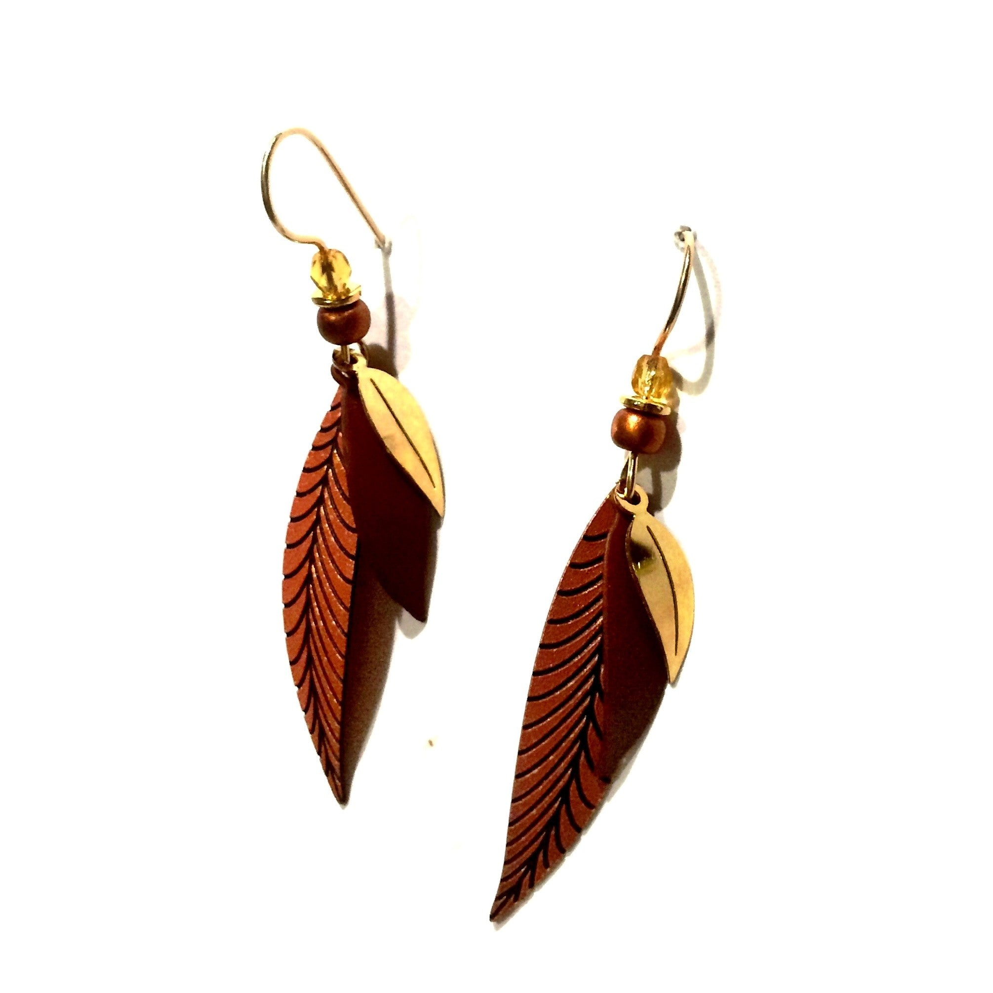 Gold-Filled Copper Leaves Earrings, $20 | Light Years Jewelry