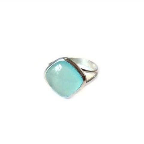 Chalcedony Diamond Ring, $18 | Sterling Silver | Light Years Jewelry