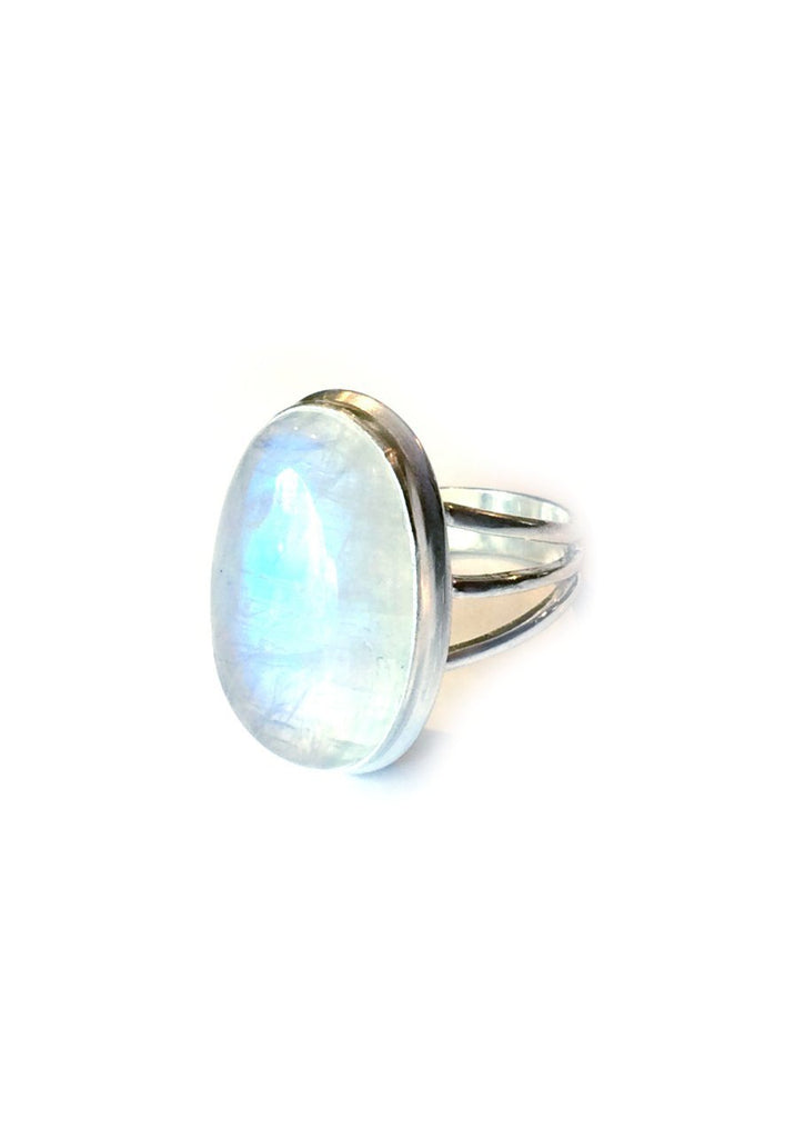 Triple Band Moonstone Ring, $36 | Sterling Silver | Light Years Jewelry