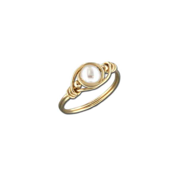 Wrapped Pearl Ring | 14k Gold Filled Sizes 5 6 7 8 9 | Light Years