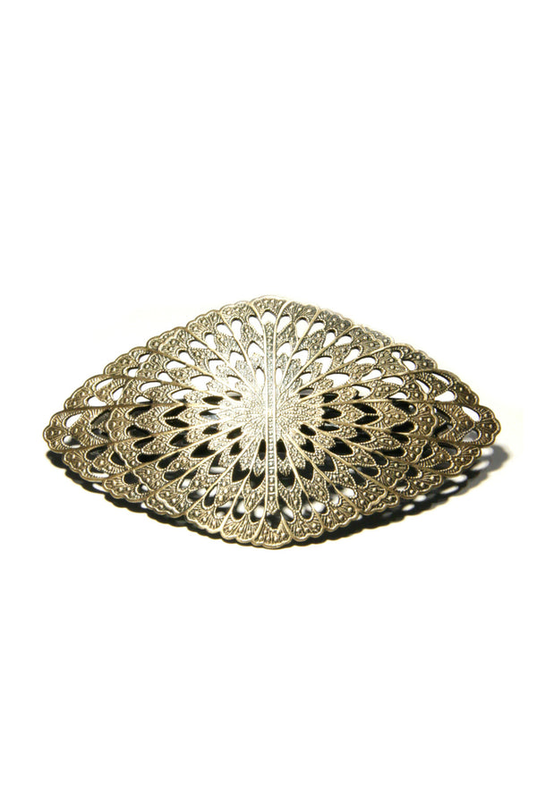Antique Filigree Barrette, $19 | Brass Hair Accessory | Light Years