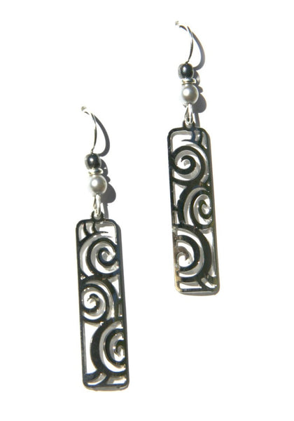 Swirly Silver Columns by Adajio, $18 | Handmade | Light Years Jewelry