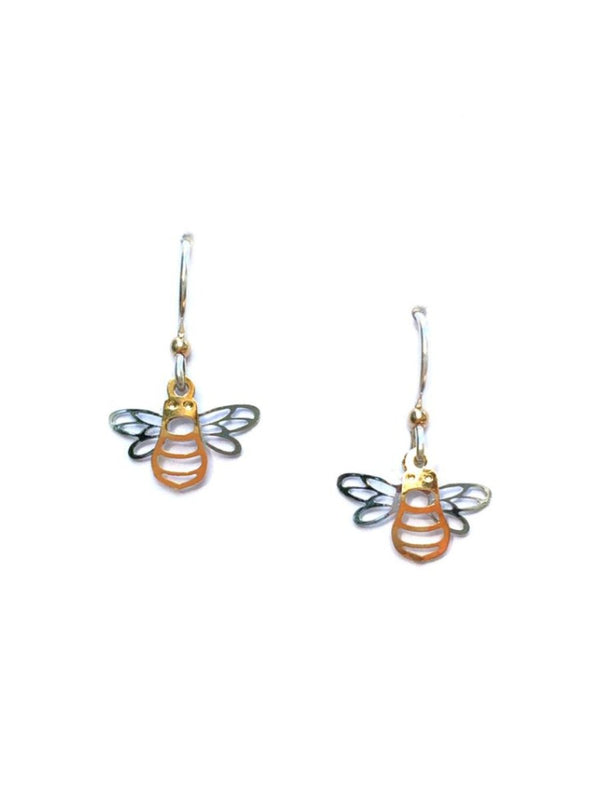 Mixed Metal Bee Earrings by Sienna Sky | Sterling Silver | Light Years