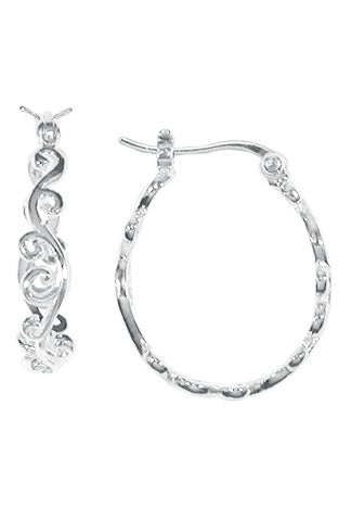 Swirled Pincatch Hoops, $28 | Sterling Silver | Light Years Jewelry