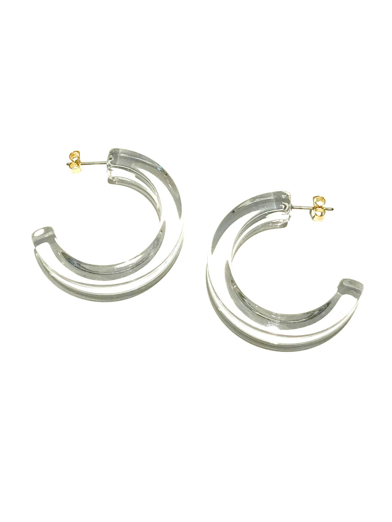 Clear Acrylic Hoops | Trendy Plastic Earrings | Light Years Jewelry