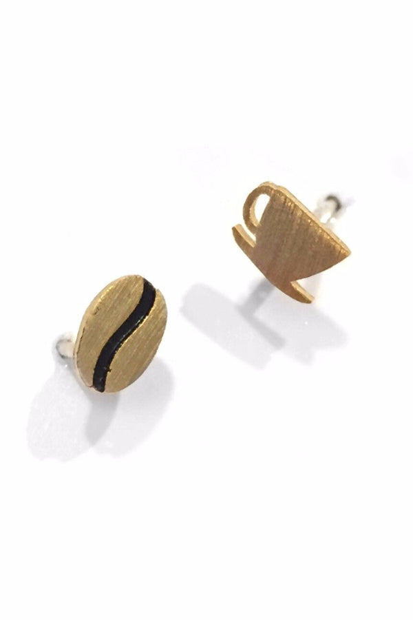Coffee Time Posts, $22 | Gold Vermeil Stud Earrings | Light Years Jewelry