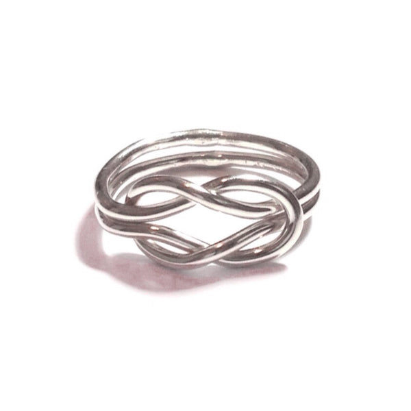 Double Love Knot Ring | Sterling Silver Size 4 5 6 7 8 | Light Years