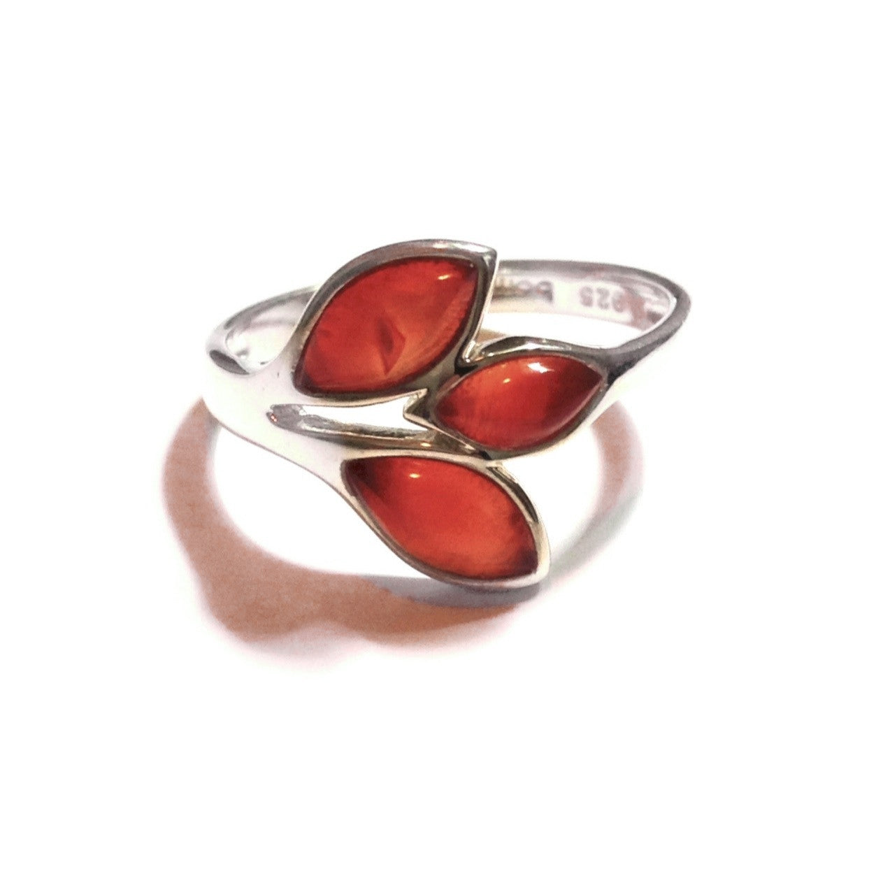 Carnelian Leaves Ring, $32 | Sterling Silver | Light Years Jewelry