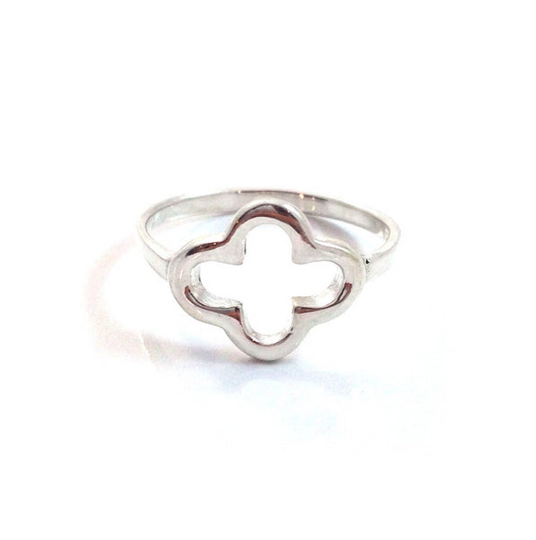 Open Clover Ring | Sterling Silver Sizes 4 5 6 7 8 | Light Years Jewelry