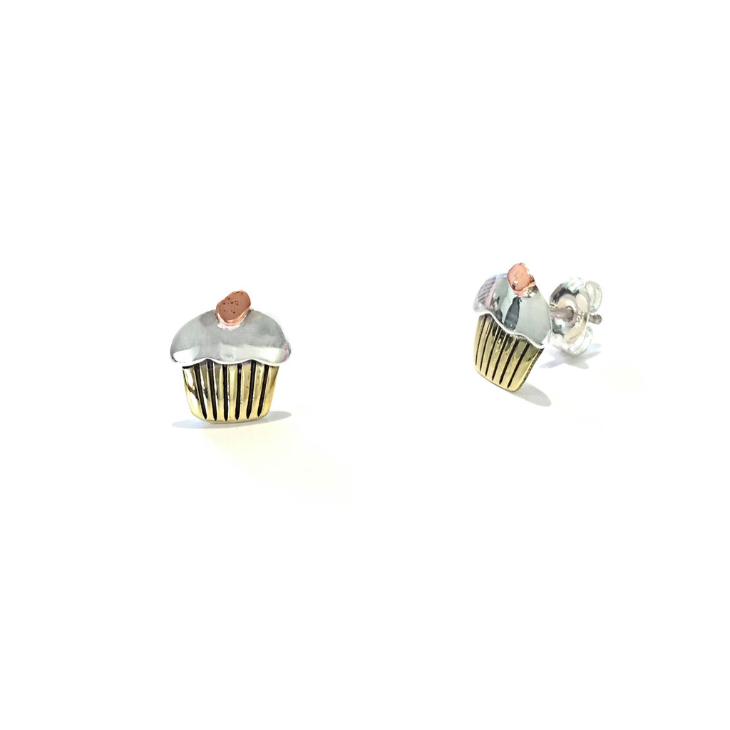 Cupcake Posts, $18 | Sterling Silver Stud Earrings | Light Years Jewelry