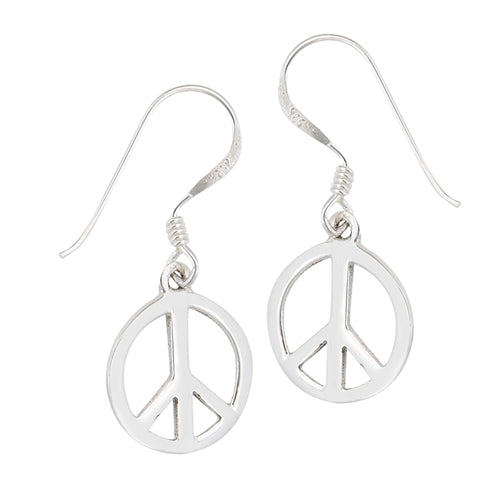 Peace Sign Dangles | Sterling Silver Earrings | Light Years Jewelry