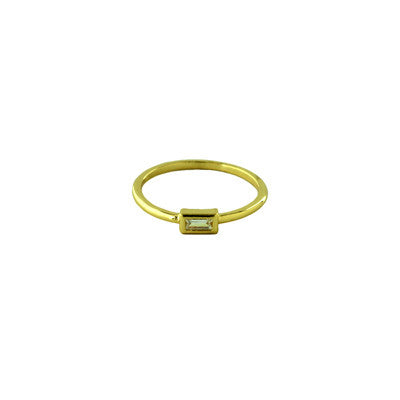 CZ Baguette Ring | Gold Plated Size 6 7 8 | Light Years Jewelry