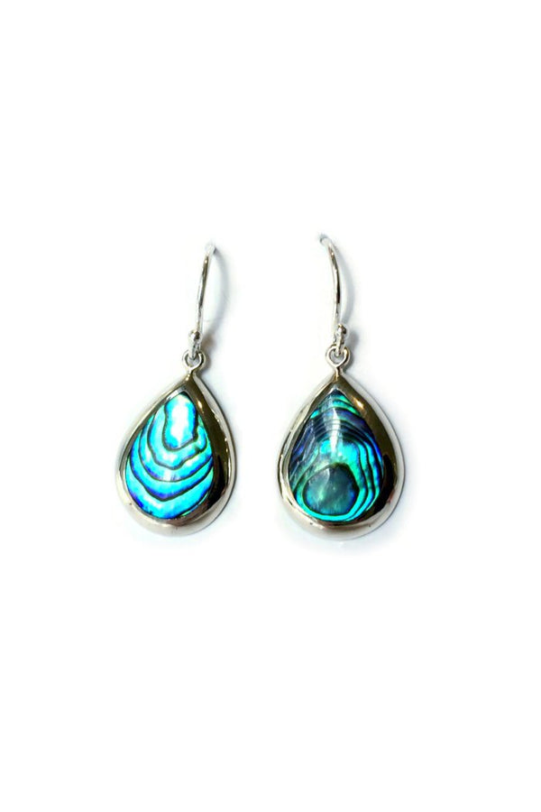Abalone Teardrop Dangles, $18 | Sterling Silver Earrings | Light Years Jewelry