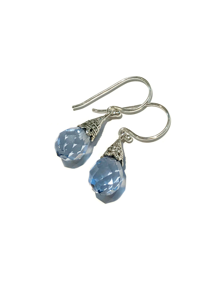 Capped Crystal Briolette Dangles | Sterling Silver Earrings | Light Years
