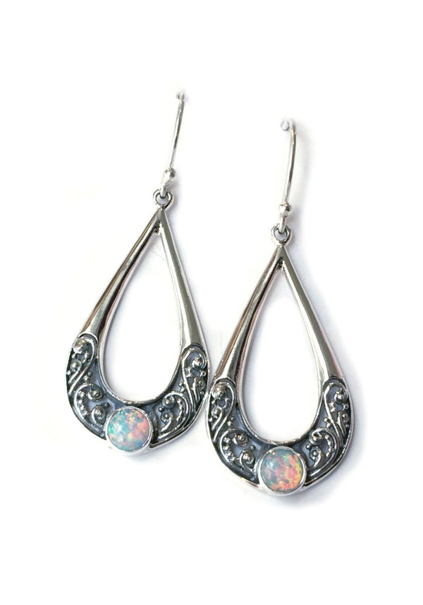 White Opal Filigree Earrings, $24 | Sterling Silver | Light Years